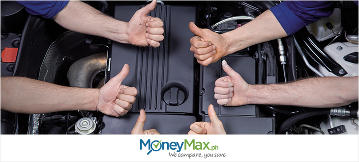 thumbs up for well-conditioned car