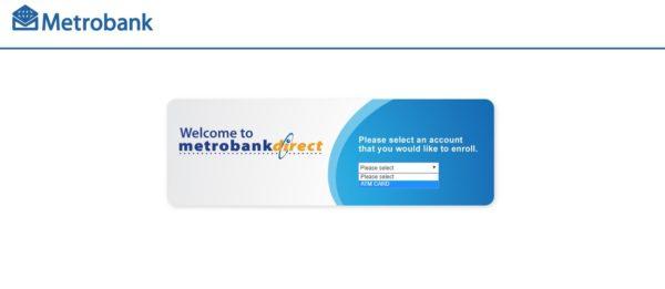 metrobank direct online guide - metrobank direct enrollment page