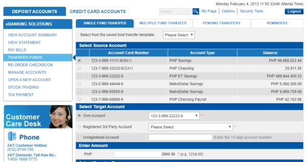 metrobank direct online guide - metrobank direct transfer funds