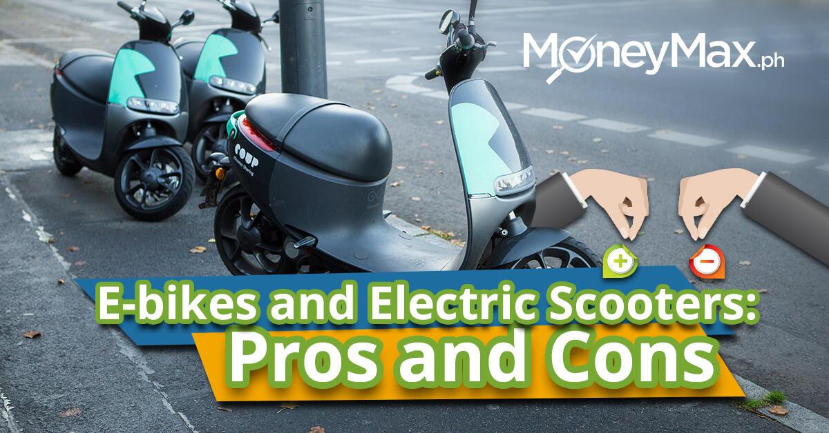 E-Bikes and E-Scooters Pros and Cons   MoneyMax.ph