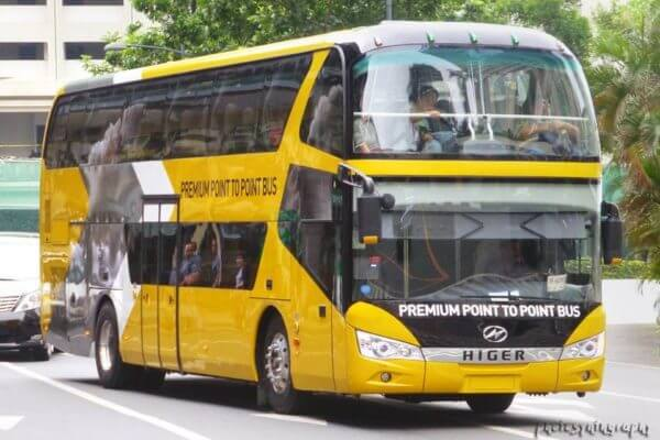 Premium Point to Pount bus with full of passengers