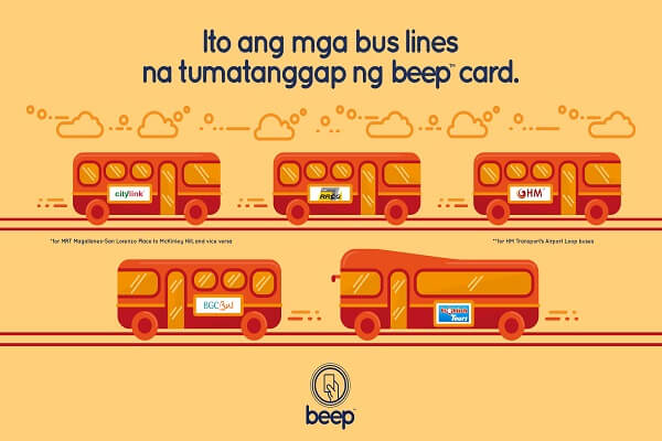 Beep Card Philippines - Bus Lines