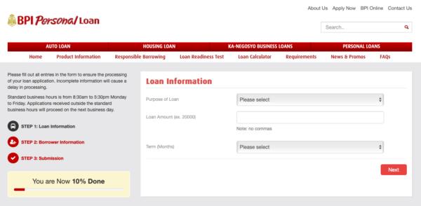 bpi personal loan application guide - bpi personal loan application
