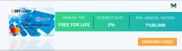 credit cards with no annual fee - bpi ecredit