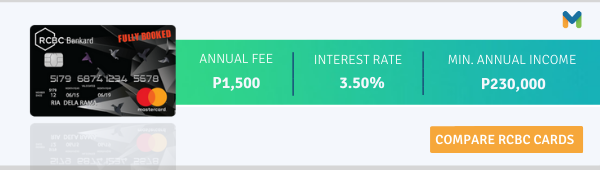 Credit Cards for Millennials - Fully Booked RCBC Mastercard