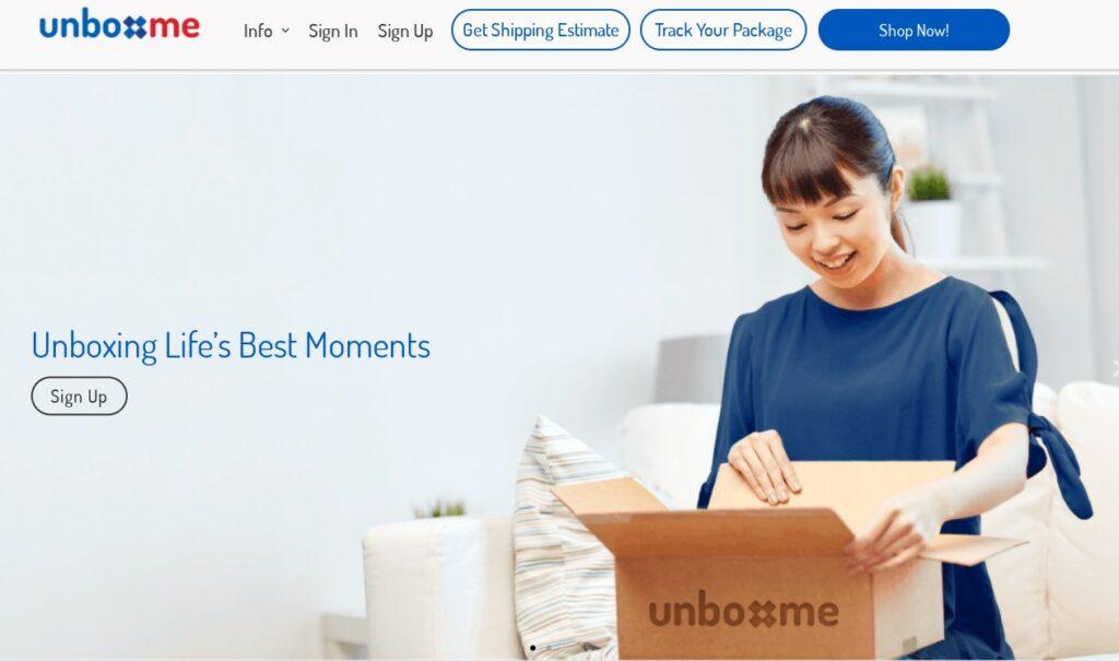 international shipping companies - unboxme
