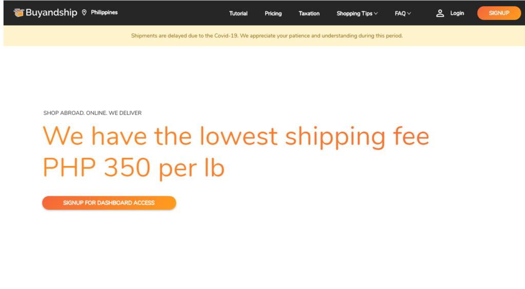 international shipping companies - buyandship