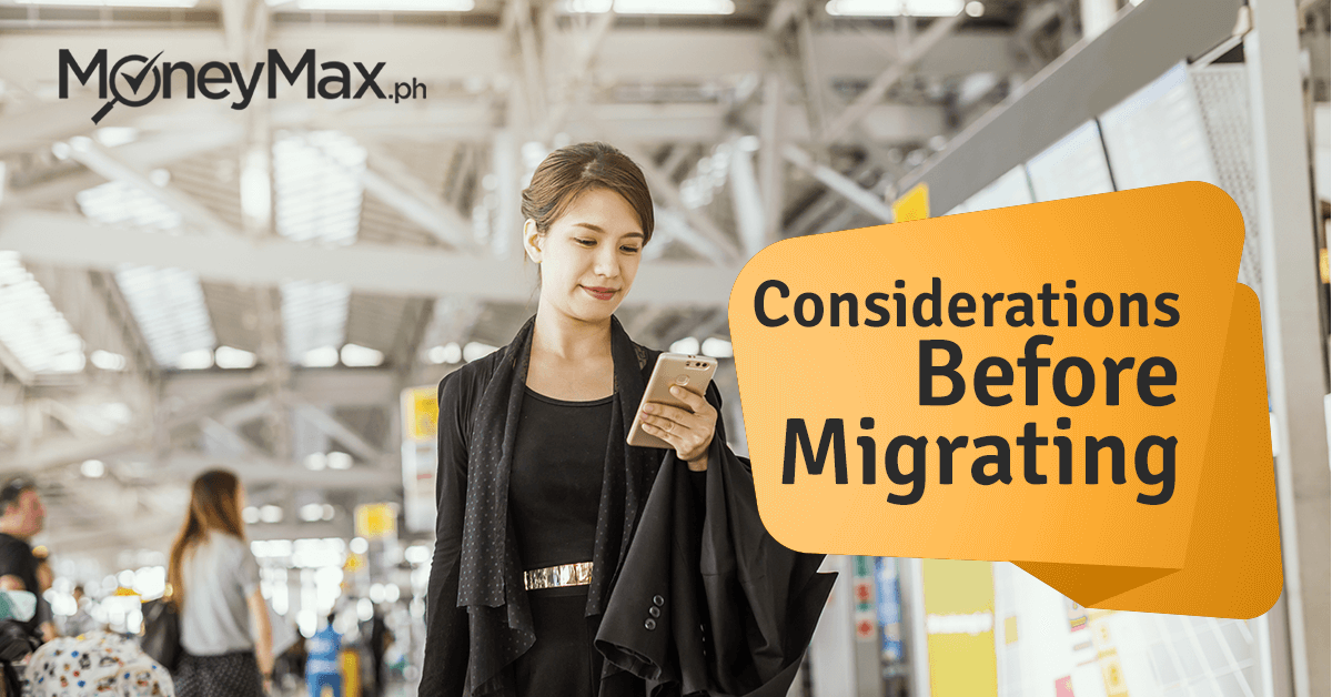 Considerations Before You Migrate from the Philippines | MoneyMax.ph