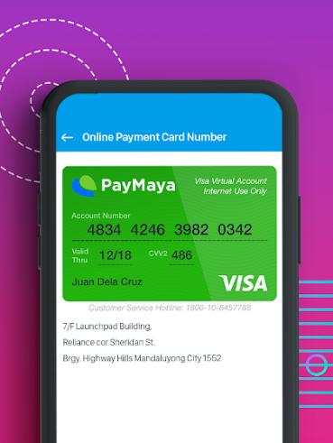 How to Use PayMaya App - Virtual PayMaya Card