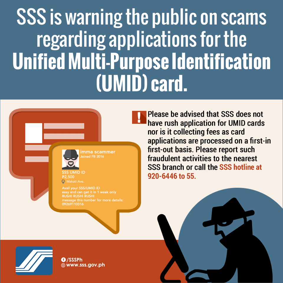 UMID Card Application - Beware of UMID Scams