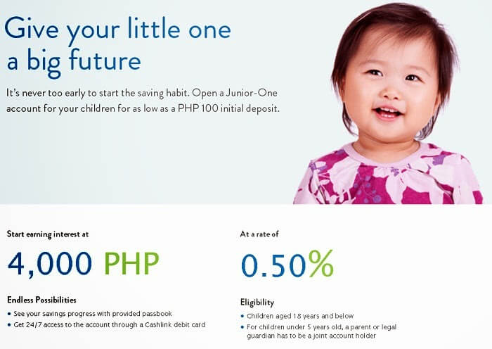 Best Savings Accounts for Kids - Security Bank Junior One Account