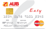 credit cards with no annual fee - aub easy mastercard