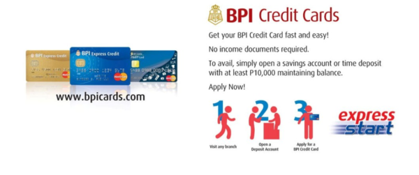 secured credit card from BPI