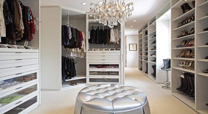 a walk-in closet