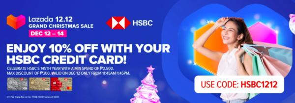 credit card christmas promotion - lazada 12.12 sale