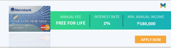 credit cards with no annual fee - metrobank m free