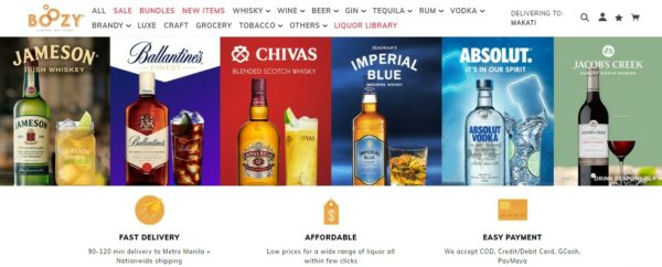 Online Grocery Delivery in the Philippines - Boozy PH