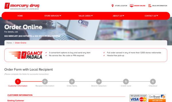 Online Drugstores in the Philippines - Mercury Drug Online Delivery