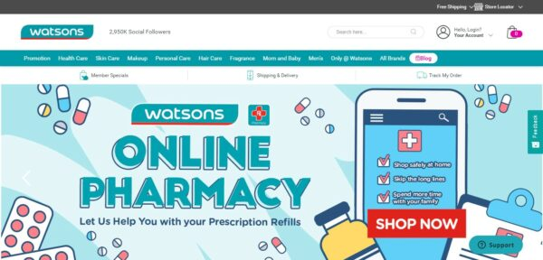 Medicine Delivery in the Philippines - Watsons Online Pharmacy