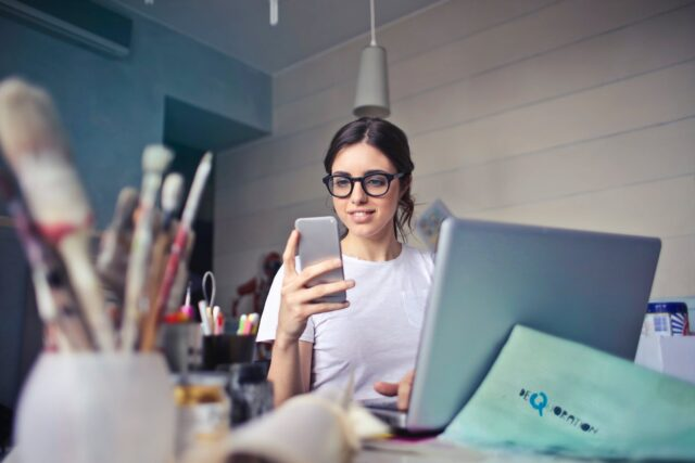 New Normal - mobile wallet girl online shopping