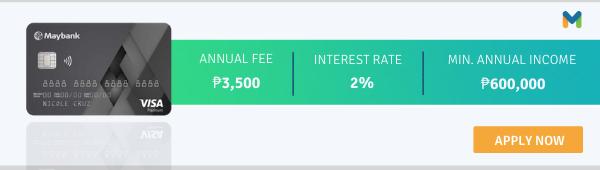 best travel credit cards philippines - maybank platinum visa