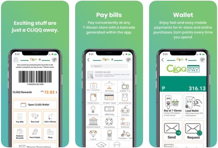 mobile wallet - 7 eleven cliqq rewards