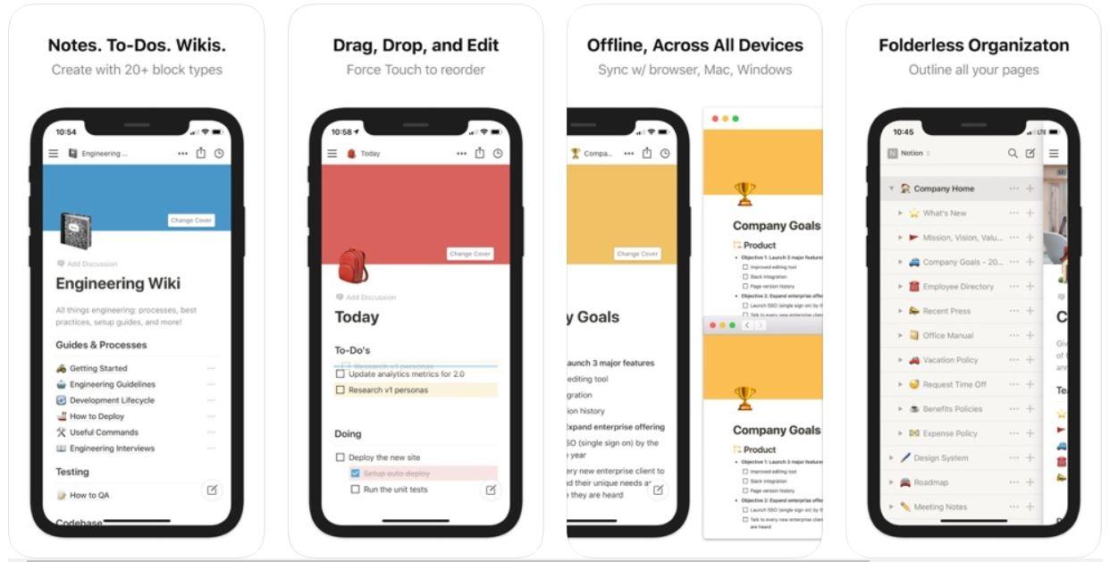 productivity apps - notion