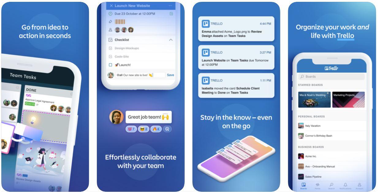 productivity apps - trello