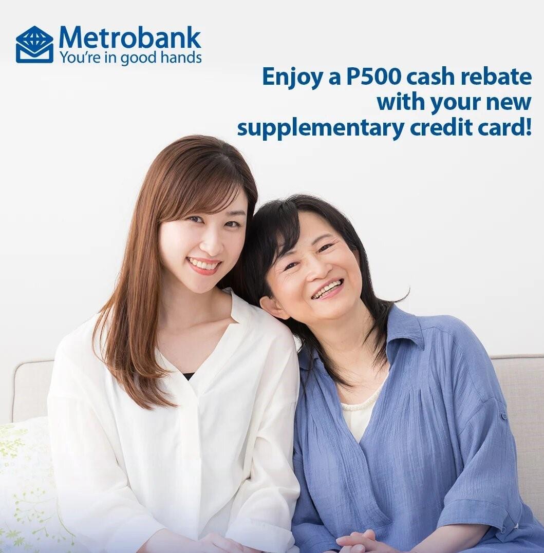 metrobank credit card rebate promo