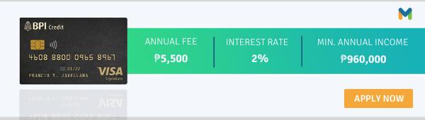 best travel credit cards philippines - bpi signature visa