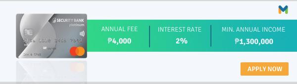 best travel credit cards philippines - security bank platinum mastercard