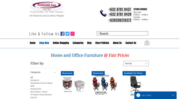 online furniture stores in the philippines - furniture fair