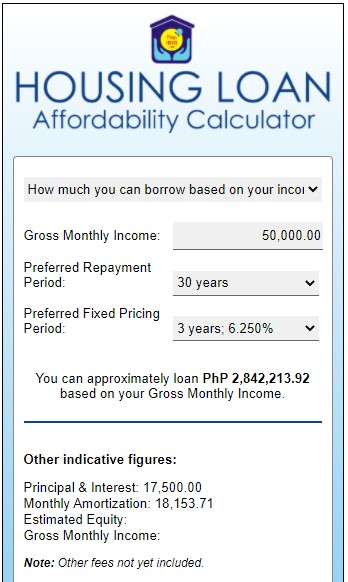 pag-ibig housing loan calculator