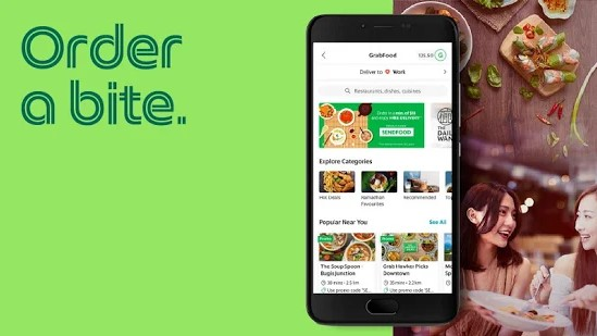 Foodpanda vs GrabFood - GrabFood app design