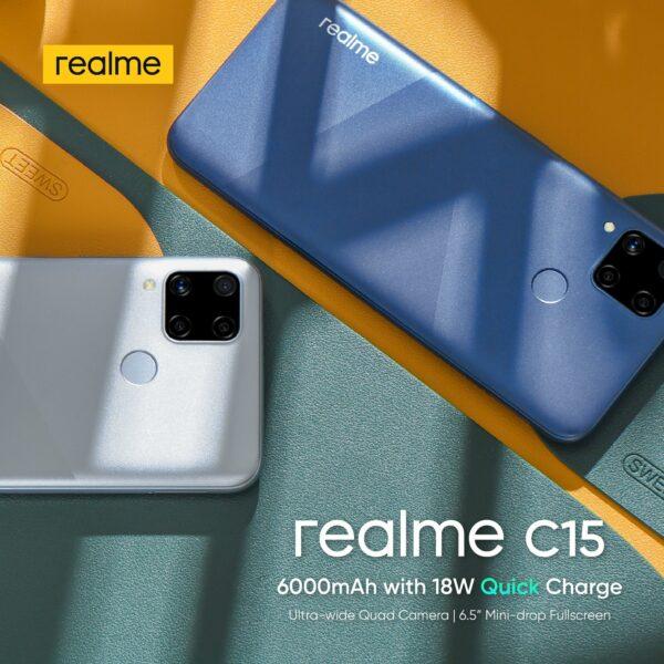 budget gaming phones - Realme C15