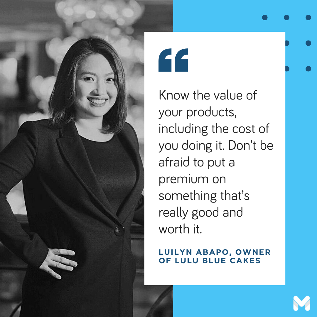 successful entrepreneurs in the Philippines - Luilyn Abapo of Lulu Blue Cakes
