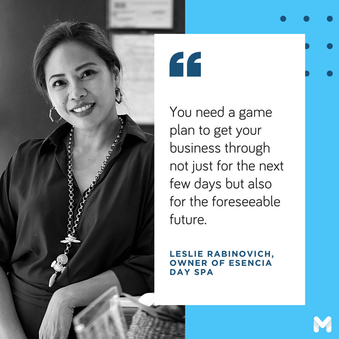 successful entrepreneurs in the Philippines - Leslie Rabinovich of Esencia Day Spa