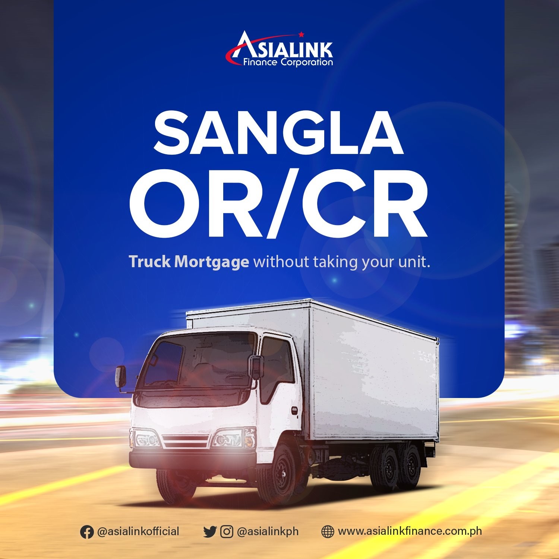 car title loan - Asialink Sangla OR/CR for trucks