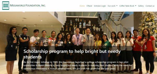scholarships in the Philippines - Megaworld Foundation Scholarship