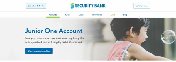 bank account for kids - Security Bank Junior One Account