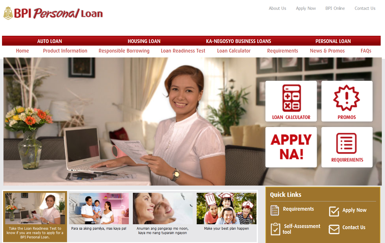bpi personal loan application - how to apply