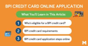 BPI credit card application l Moneymax