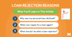 reasons for personal loan rejection   Moneymax