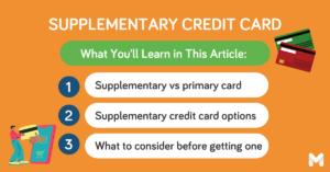 supplementary credit card l Moneymax