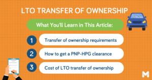 lto transfer of ownership l Moneymax