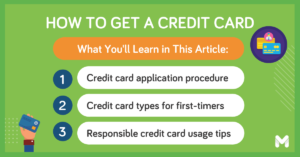 how to get a credit card for the first time l Moneymax