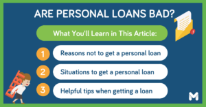 are personal loans bad l Moneymax