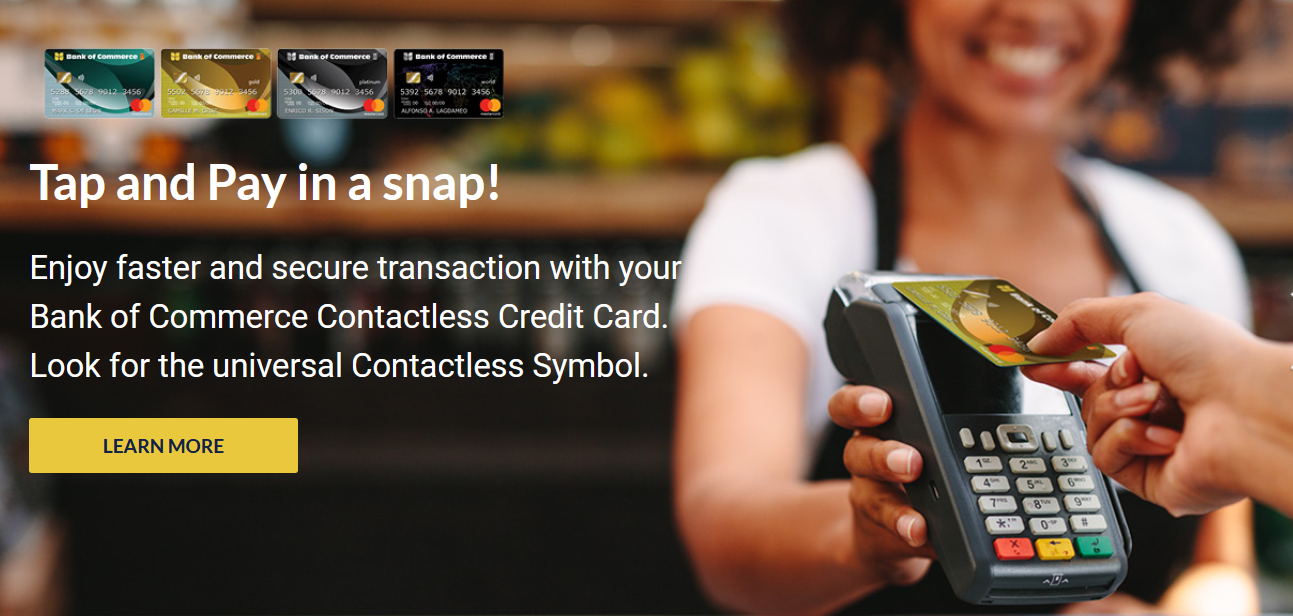 Bank of Commerce credit card application - card features