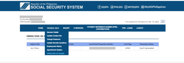 how to get an SSS ID - application status verification