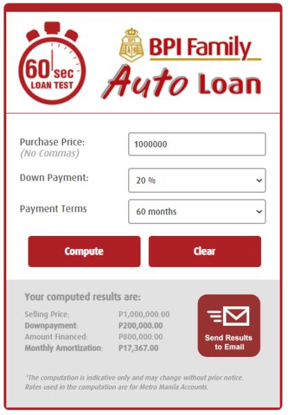 car financing - loan calculator